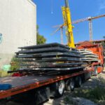 Neubau: Betonwände Keller Lastwagen