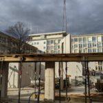 Erdgeschoss neue Wände im Hintergrund Jobcenter