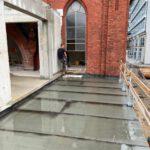 Neue Terrasse im Neubauobergeschoss